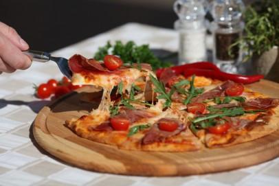 Пицца в ресторане Albatross